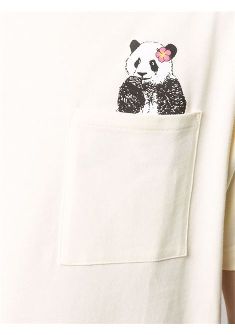 T-shirt con stampa in bianco - uomo CLOT | CLSH21SS2015OFFWHT