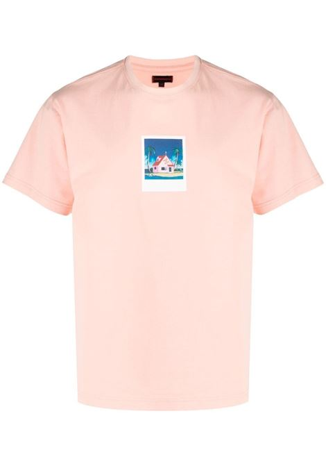 Clot t-shirt con stampa grafica uomo pink CLOT | T-shirt | CLTE21SS1014PNK