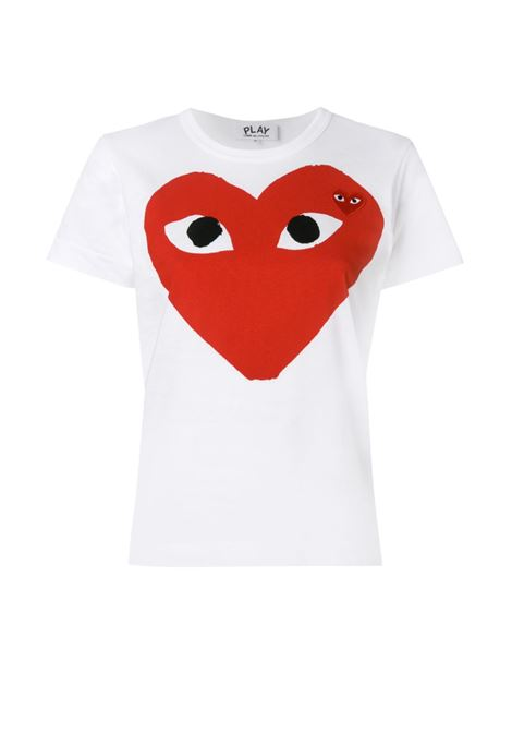 T-shirt Heart eyes Donna COMME DES GARCONS PLAY | P1T025A