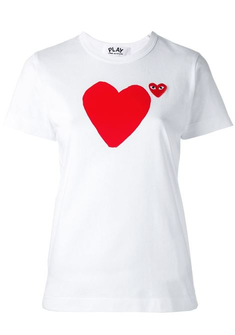 Comme des garcons play heart print t-shirt women white COMME DES GARCONS PLAY | T-shirt | P1T2211