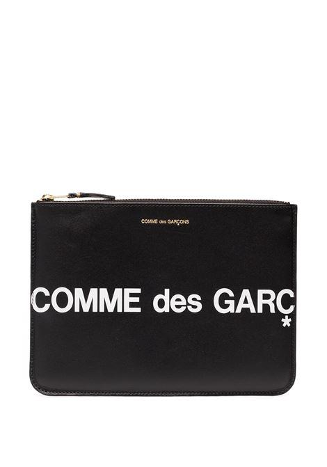 Logo print clutch COMME DES GARCONS WALLET | Hand bags | SA5100HL1
