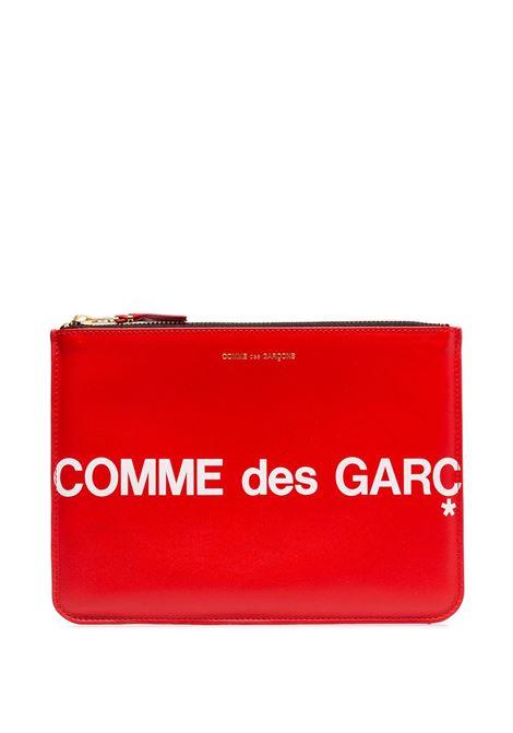 Logo print clutch COMME DES GARCONS WALLET | Hand bags | SA5100HL2