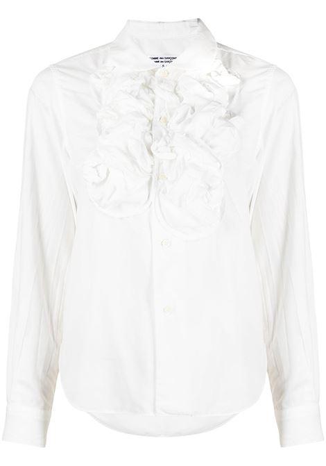 Comme des garcons camicia con pettorina donna white COMME DES GARCONS | Camicie | RGB0040512