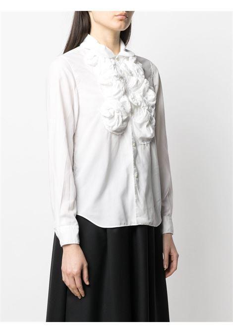 Comme des garcons floral shirt women white COMME DES GARCONS | RGB0040512