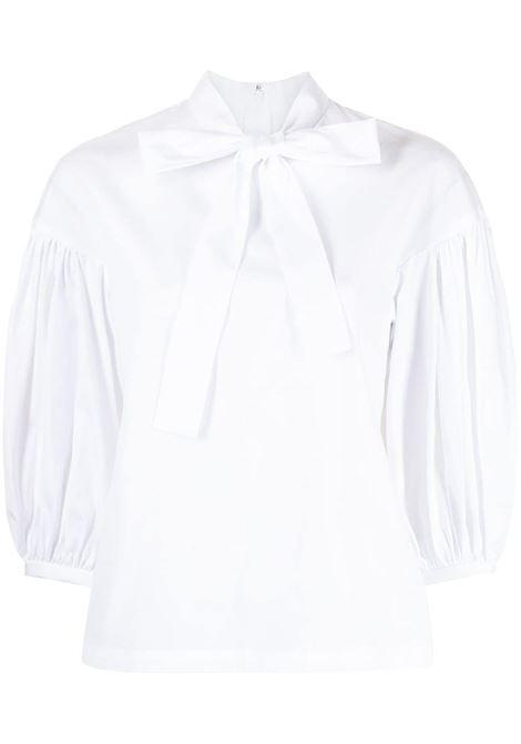 Comme des garcons blusa con collo lavallière donna white COMME DES GARCONS | Bluse | RGB0130512