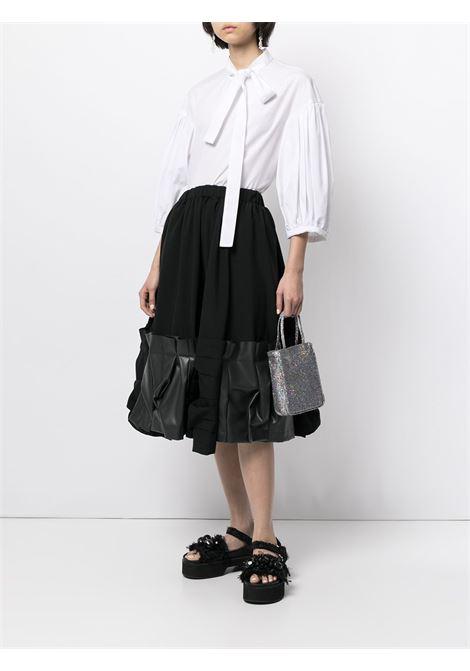 Comme des garcons tie-neck blouse women white COMME DES GARCONS | RGB0130512