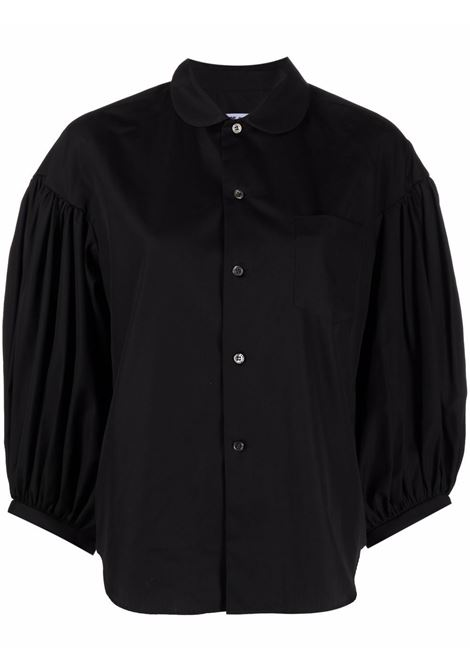 Puff sleeves blouse in black - women COMME DES GARCONS   Blouses   RGB0150511