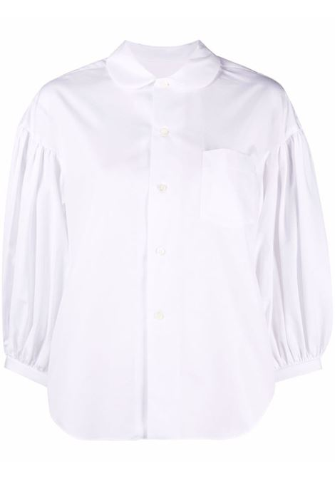 Puff sleeves blouse in white - women COMME DES GARCONS   Blouses   RGB0150512