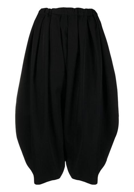 Comme des garcons pantaloni crop donna black COMME DES GARCONS | Pantaloni | RGP0030511