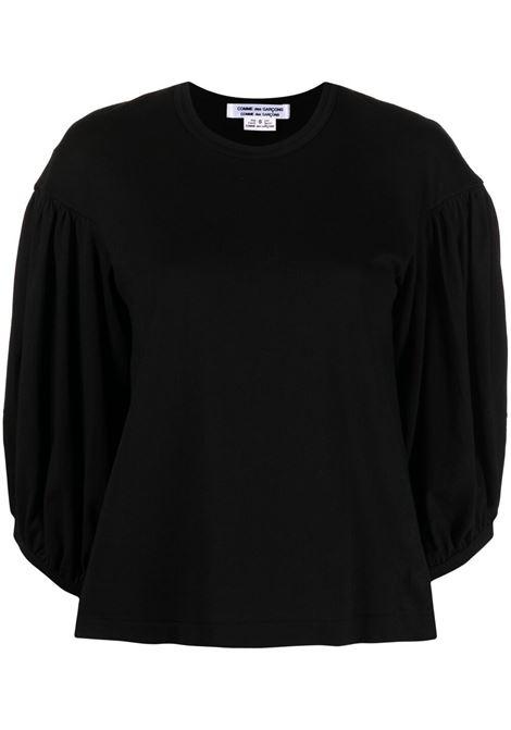 Comme des garcons t-shirt con maniche a palloncino donna black COMME DES GARCONS | T-shirt | RGT0100511
