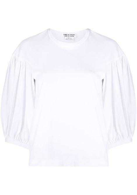 Comme des garcons t-shirt con maniche a palloncino donna white COMME DES GARCONS | T-shirt | RGT0100512