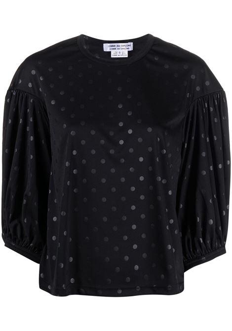 Comme des garcons t-shirt  a pois donna black COMME DES GARCONS | T-shirt | RGT0120511