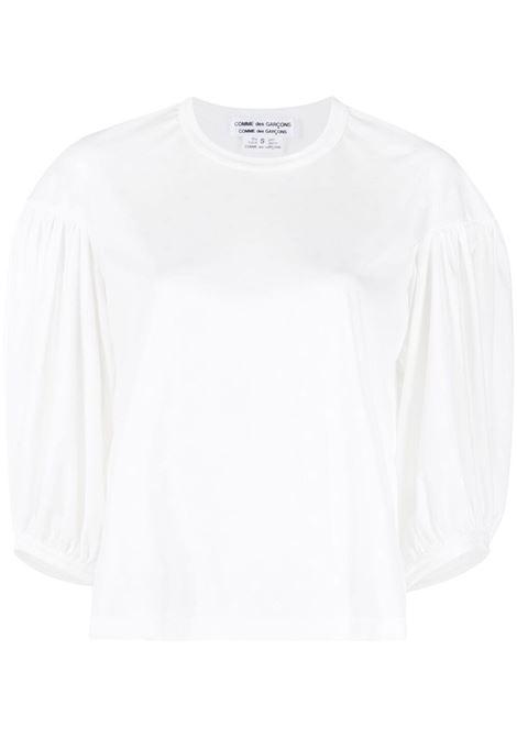 Comme des garcons t-shirt con maniche a palloncino donna off white COMME DES GARCONS | T-shirt | RGT0120512