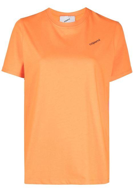 Coperni t-shirt con stampa donna neon orange COPERNI | T-shirt | JS07BISR21510NEOR
