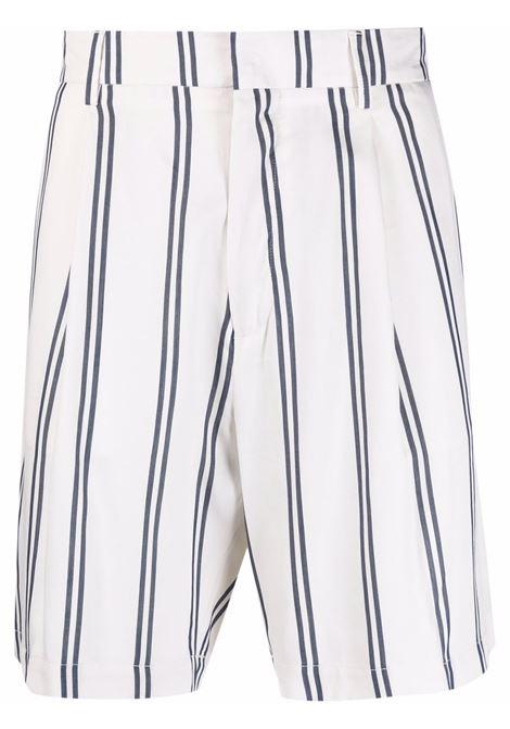 White and blue stripe-pattern tailored bermuda - men COSTUMEIN | CQ336240