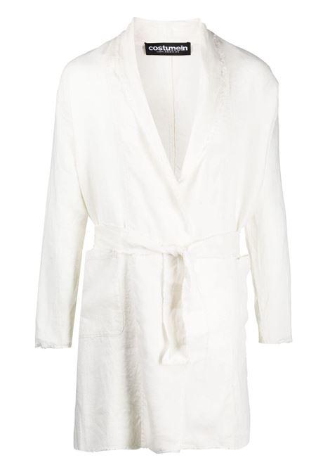 Giacca a portafoglio con cintura abinata bianco - uomo COSTUMEIN | CQ41NATURA