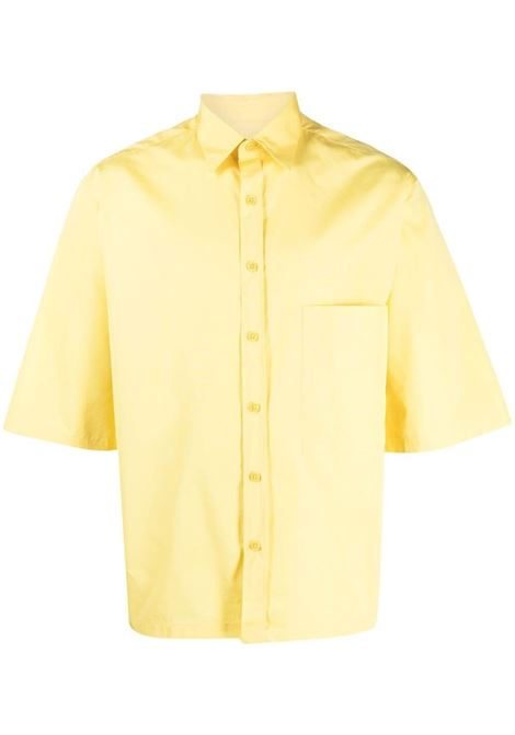 Short-sleeve button-up shirt in yellow - men COSTUMEIN | Q01Q2