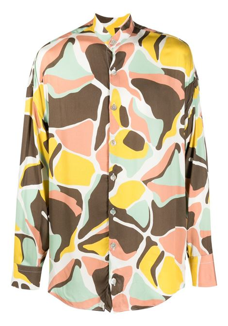 Graphic print band collar shirt multicolored - men COSTUMEIN | Q08GLRTD