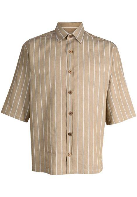 Costumein camicia a righe uomo rigato marrone COSTUMEIN | Camicie | Q09J0001