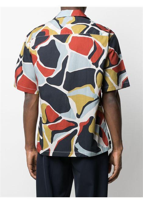 Camicia a maniche corte con stampa grafica all-over multicolore - uomo COSTUMEIN | Q10TA