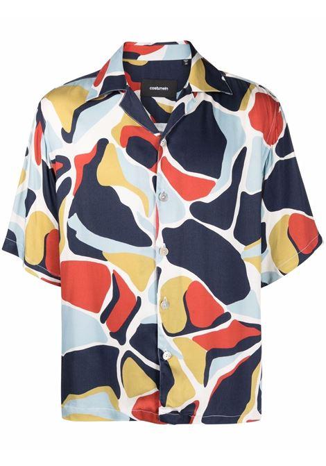 Costumein camicia con design color-block uomo rosso blu camouflage COSTUMEIN | Camicie | Q12TA