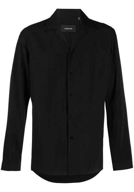 Wingtip-collar long-sleeved shirt black - men COSTUMEIN | Q154490
