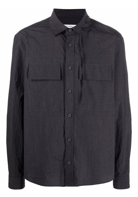 Craig green classic collar shirt men grey CRAIG GREEN | Shirts | CGSS21CWOSHI04GRY