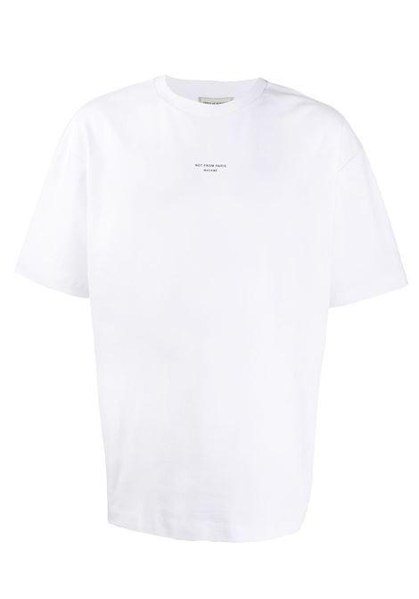 Drôle De Monsieur t-shirt not from paris madame uomo white DRÔLE DE MONSIEUR | T-shirt | PERMP01WT
