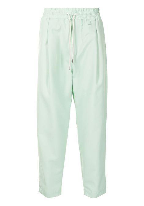 Drôle De Monsieur pantaloni sportivi crop uomo light green DRÔLE DE MONSIEUR | Pantaloni | SS21BP002LG