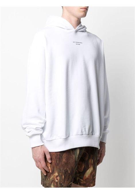 Drôle de monsieur logo sweatshirt men white DRÔLE DE MONSIEUR   SS21HO008WT