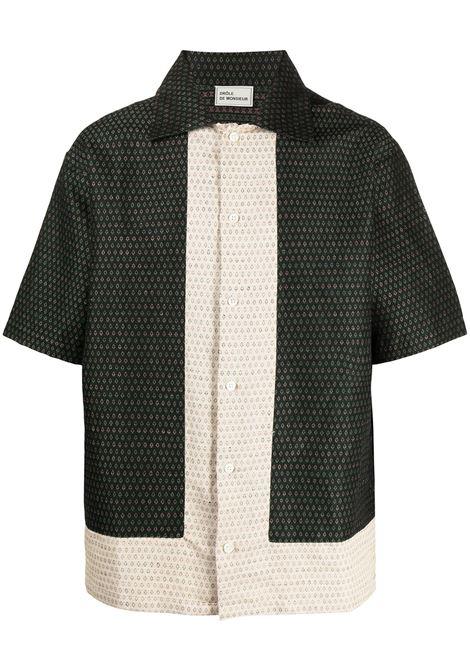 Drôle De Monsieur camicia jacquard uomo green DRÔLE DE MONSIEUR | Camicie | SS21SH002GN