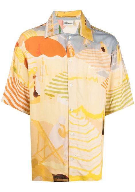 Drôle De Monsieur camicia croisette beach uomo beige DRÔLE DE MONSIEUR | Camicie | SS21SH007BG
