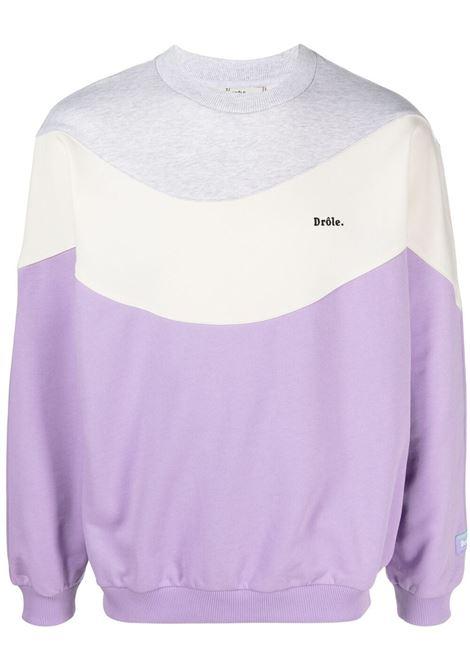 Drôle de monsieur colour-block sweatshirt men purple DRÔLE DE MONSIEUR | Sweatshirts | SS21SW003PL