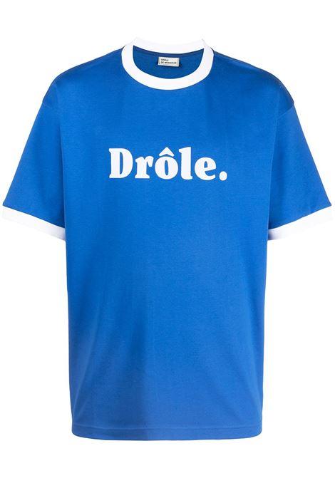 Drôle De Monsieur t-shirt con logo uomo blue klein DRÔLE DE MONSIEUR | T-shirt | SS21TS001BK