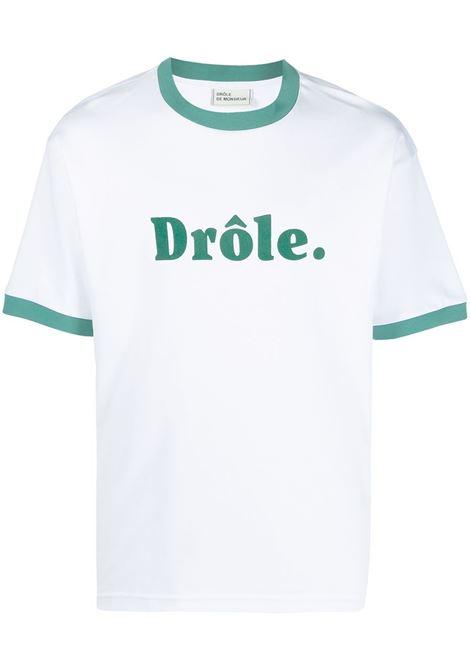 Drôle De Monsieur t-shirt con logo uomo white DRÔLE DE MONSIEUR | T-shirt | SS21TS001WT