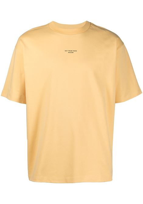 Drôle De Monsieur t-shirt con stampa uomo yellow DRÔLE DE MONSIEUR | T-shirt | SS21TS003YL