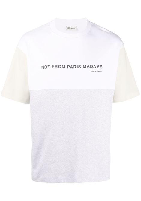 Drôle de monsieur colour-block t-shirt men grey DRÔLE DE MONSIEUR | T-shirt | SS21TS006GY