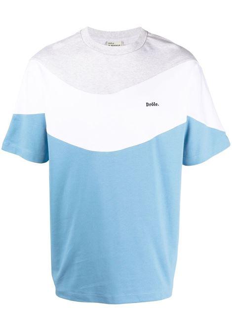 Drôle de monsieur logo t-shirt menblue sky DRÔLE DE MONSIEUR | T-shirt | SS21TS007BS