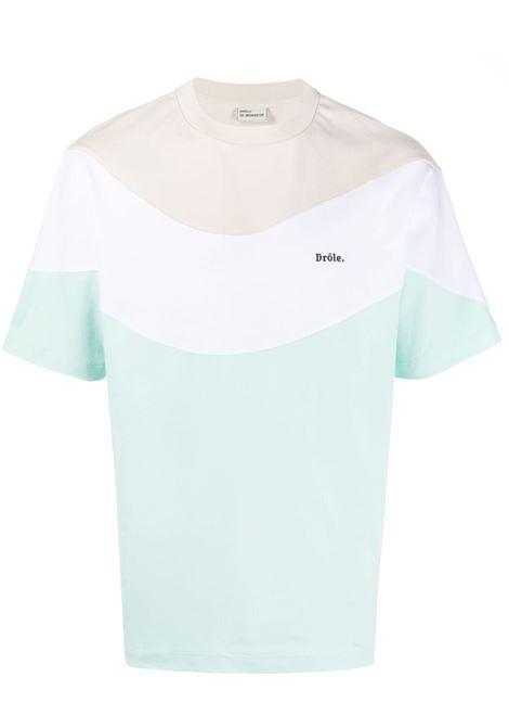 Drôle de monsieur colour block t-shirt men light green DRÔLE DE MONSIEUR | T-shirt | SS21TS007LG