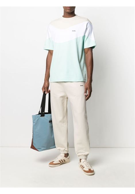 Drôle de monsieur colour block t-shirt men light green DRÔLE DE MONSIEUR   SS21TS007LG