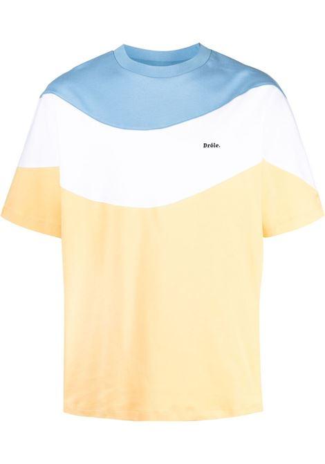Drôle de monsieur colour block t-shirt men yellow DRÔLE DE MONSIEUR | T-shirt | SS21TS007YL