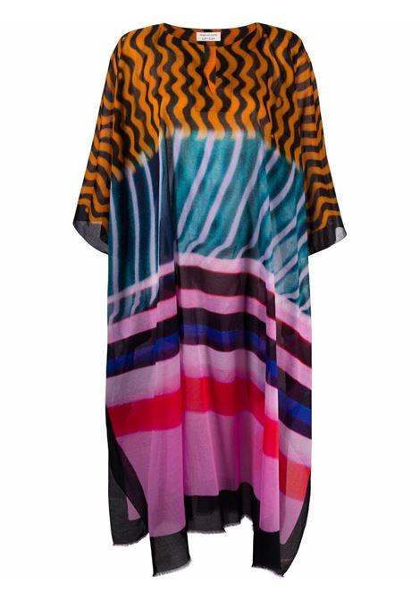 Mixed-print kaftan dress women  DRIES VAN NOTEN | 211107402011976