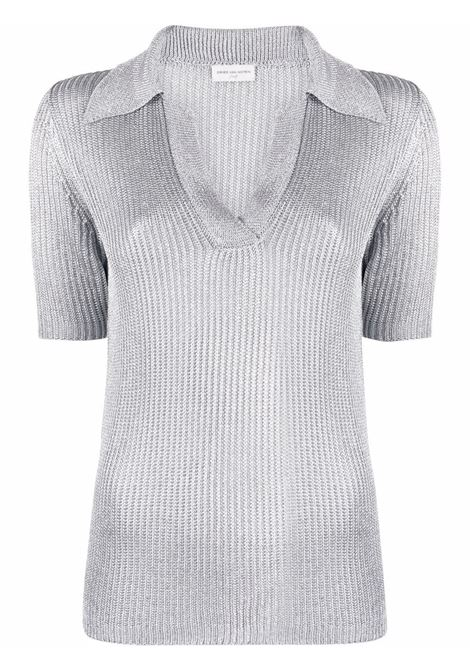 Polo lavorata a maglia donna DRIES VAN NOTEN | Polo | 211112422703952