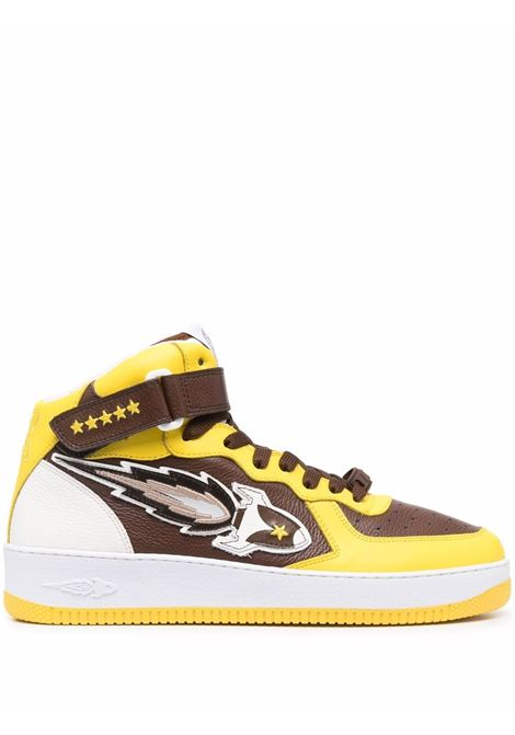 Enterprice japan sneakers alte uomo brown yellow white ENTERPRICE JAPAN | Sneakers | BB1001PX108S1845