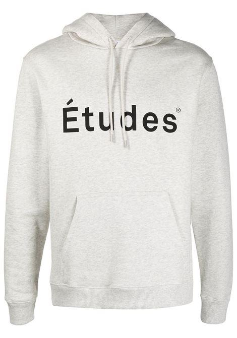 Études felpa con logo uomo heater grey Études | Felpe | E18M10105