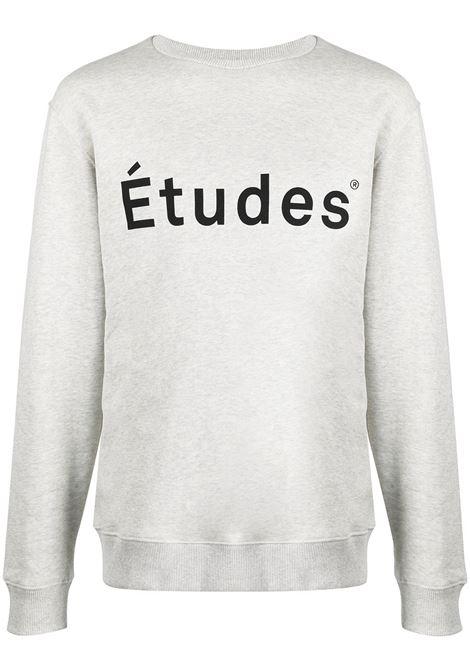 Études felpa con logo uomo heater grey Études | Felpe | E18M11005