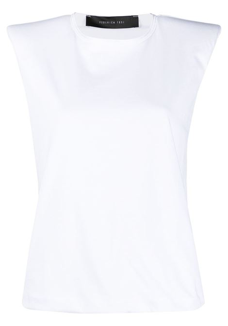 T-shirt con spalline imbottite FEDERICA TOSI | T-shirt | FTE21TS0030JE00810001