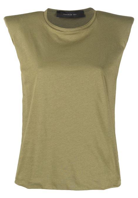 T-shirt con spalline imbottite FEDERICA TOSI | T-shirt | FTE21TS0030JE00810007