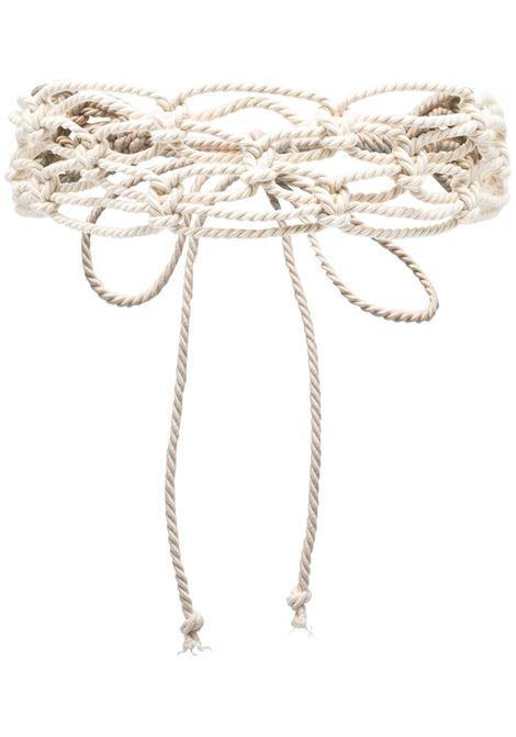Cintura con dettaglio a nodo donna naturale FORTE FORTE | Cinture | 8134NTRL