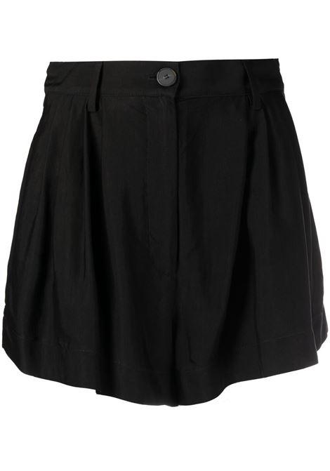 Twill shorts women nero FORTE FORTE | Shorts | 8219NR